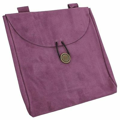 Medieval Hint of Royalty Purple Suede Leather Renaissance Ladies Belt Pouch