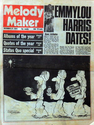 Melody Maker 27 Dec 1975 . Emmylou Harris Cover . 10Cc . Status Quo .not Nme