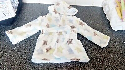 Baby boy 0-6 months star dressing gown