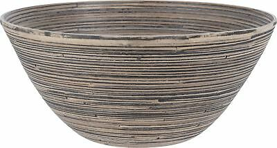 30cm x 15cm Large Bamboo Salad Fruit Serving Snack Bowl Environmentally Friendly