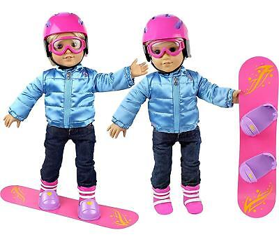 "Molly Dolly Snowboard Set For 18"" Doll Our Generation Accessories American Girl"