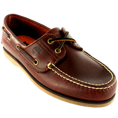 Mens Timberland Classic 2 Eye Heritage Leather Deck Shoes Boat Shoes All Sizes