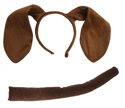 Animal Dog Long Brown Ears Headband Adult Child Puppy Pooch Costume Accessory
