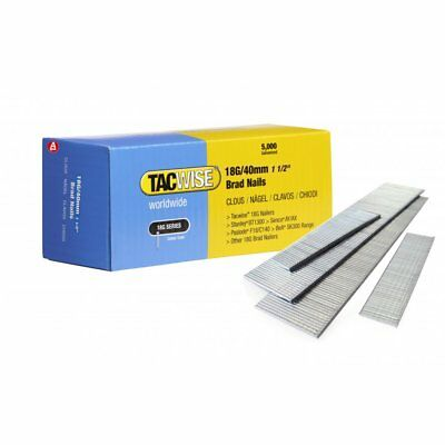Tacwise 0400 18G 40mm Galvanised Steel Brad Nails 5000 for DGN50V, R18N18G-0 NEW