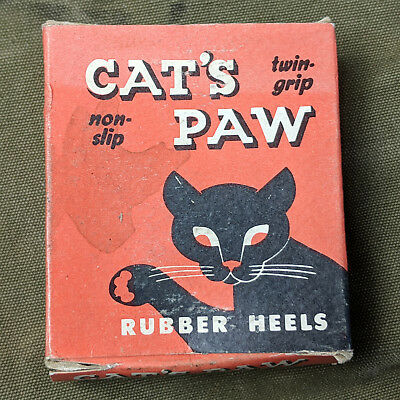 Vintage Deadstock NOS Cats Paw Heels 1930s 1940s 3