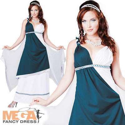 Roman Beauty Ladies Fancy Dress Ancient Grecian Toga Party Adults Costume Outfit