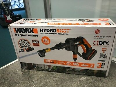WORX 20v Cordless Hydroshot Pressure Cleaner with Accessory Kit (B 749/8000 DY)