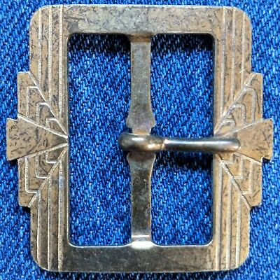 "Vintage 1920s 1930s belt buckle art deco 1-9/16""x1-5/8"""