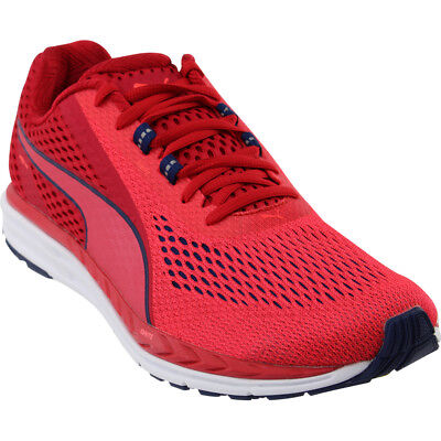 93475661212f10 PUMA SPEED 500 Ignite Mens Red Black Sneakers Running Road Shoes ...