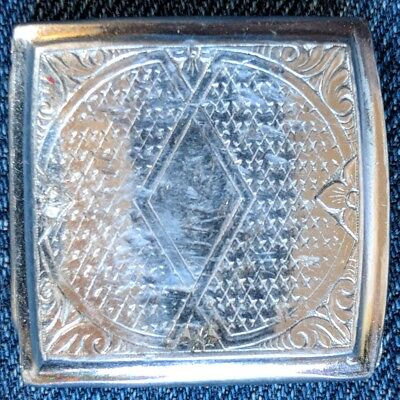 "Vintage 1920s 1930s Majestic Chrome Plate mens belt buckle art deco 1"" belt"