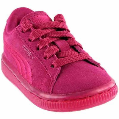 b5b984d3c71a Puma Suede Classic Badge Infant Iced Sneakers- Pink- Girls