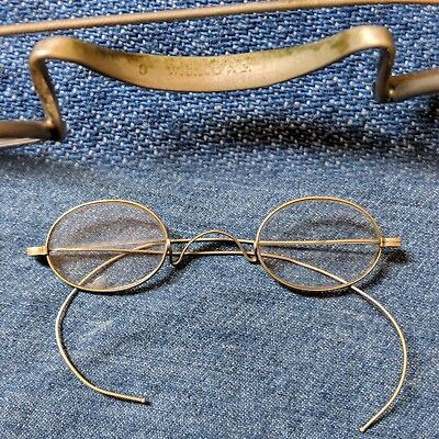 Vintage 1890s oval glasses windsor bridge cable temple