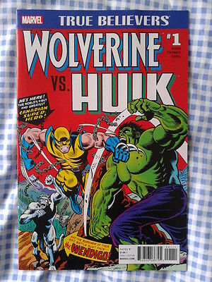 True Believers, Wolverine vs. Hulk reprints Hulk 181,182 1st App of Wolverine