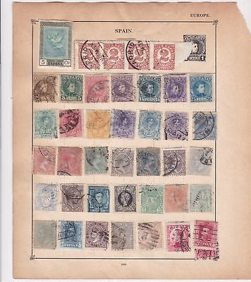 spain & serbia stamps page ref 17615