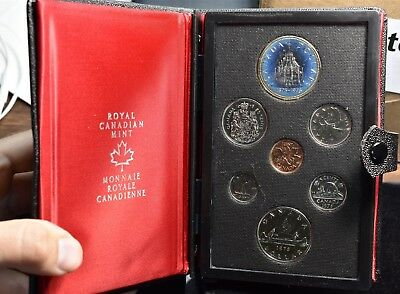 1976 Canada Parliment Silver Dollar - 7 Coin Proof Set With Box & Coa