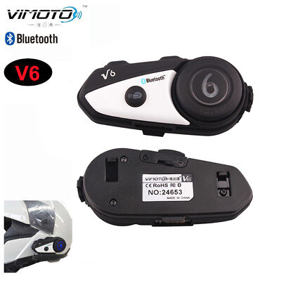 Vimoto V6 Headset Bike Motorcycle Stereo Earphone Good Voice For 2Ways Radio GPS