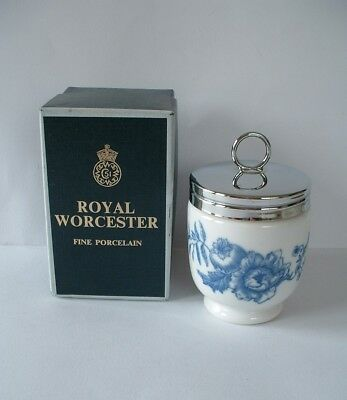 Royal Worcester King Size Egg Coddler - RHAPSODY pattern - boxed with Recipes