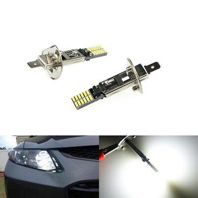 1/2/5Pcs White Auto H1 6500K 24-SMD 4014 Driving DRL Lamp LED Bulb Car Fog Light