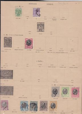 serbia stamps page ref 17313