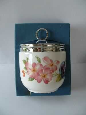 Royal Worcester MAXIME Size Egg Coddler - PERSHORE pattern - boxed with Recipes
