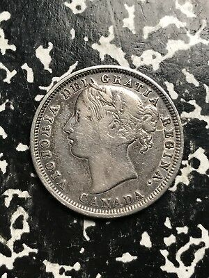 1858 Canada 20 Cents Lot#X8149 Silver!