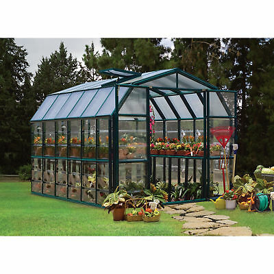 Rion Grand Gardener 2 Clear Greenhouse - 8ft.W x 12ft.L, Model# HG7212C