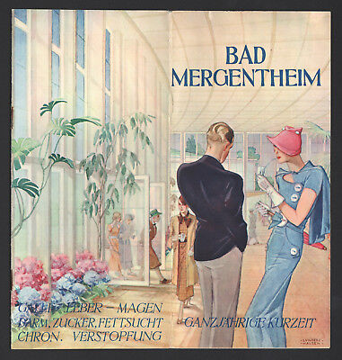 BAD MERGENTHEIM orig. Prospekt um 1938! Illustr. Ilse Wende-LUNGERSHAUSEN