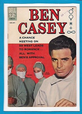 """Ben Casey #7_Aug-Oct 1963_Fine+_""""one Second To Disaster""""_Silver Age Dell Comics!"""