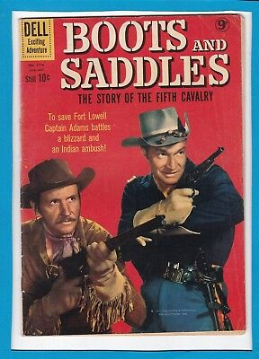 Boots And Saddles #1116_Aug-Oct 1960_Fine_Silver Age Dell Western Adventure!