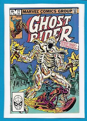 "Ghost Rider #77_February 1983_Very Good_""ghost Rider...unleashed?""_Bronze Age!"