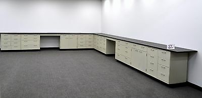 Laboratory 38'  Base Cabinets with Industrial Grade Counter Tops CV OPEN 1- 3-