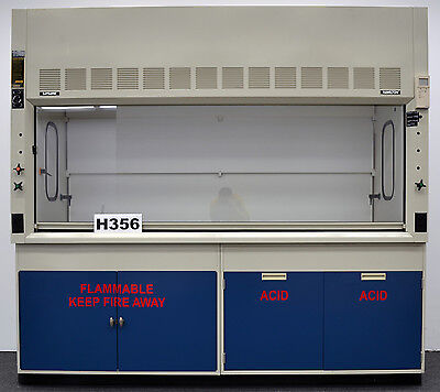 Fisher Hamilton Safeaire 8' Fume Hood & Flammable & Acid Cabinets H356 ...-