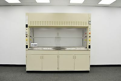 8'  MOTT  Laboratory Fume Hood  with Epoxy Top and Base Cabinets  - H490 -