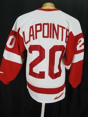 Mens VNTG Detroit Red Wings LAPOINTE Sewn Nike NHL Hockey Jersey Shirt S Small