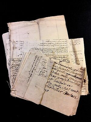 LOT OF TEN DOCUMENTS 1700s