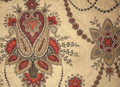 NEW AUTUMN STOCK, 19th CENTURY FRENCH QILTED MADDER INDIENNE c1840s/50s, 139