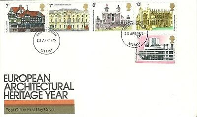 European Architectural Heritage Year 1975 Belfast Unaddressed First Day Of Issue