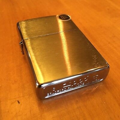 Genuine Zippo 200 brushed chrome windproof Lighter CASE ONLY No Insert/Box