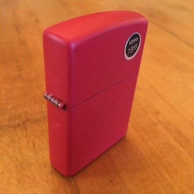 Genuine Zippo 233 red matte windproof Lighter CASE ONLY No Insert/Box