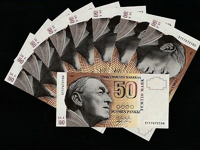 50 Mark From Finland 9 Pcs Unc