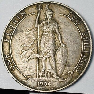 1904 Great Britain Silver One Florin - XF