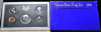 1970-S U.S. Mint Proof Set 5 Coins - Pristine Hand Picked Set