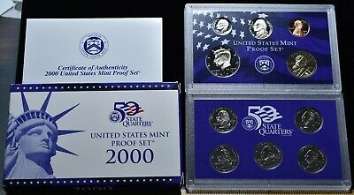 2000-S U.S. Mint Proof Set 10 Coins - Pristine Hand Picked Set