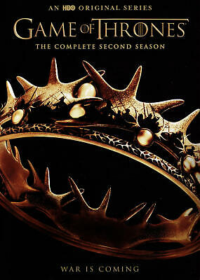 Game of Thrones: The Complete Second 2nd 2 Season (DVD, 2015, 5-Disc Set) NEW