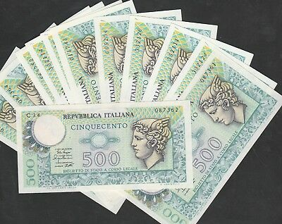 500 Lire From Italy 13 Pcs Unc