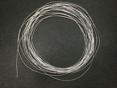 """50 Feet of Craft Silver Plated Copper Wire, Diameter: 0.0305"""", Size: 21 AWG"""