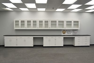 22' BASE 17' WALL WHITE   Furniture / Cabinets / Case Work / IN STOCK