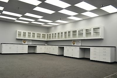 Laboratory 35' BASE 30' WALL Furniture / Cabinets / Case Work /  QUICK SHIP