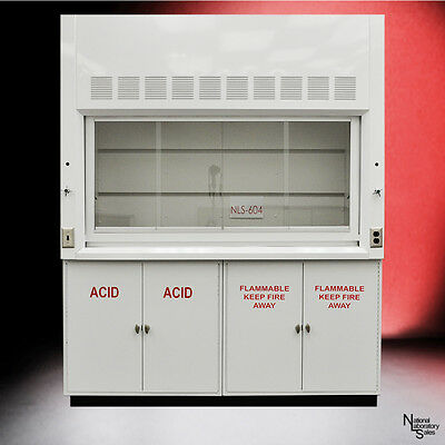6' NEW Chemical Laboratory Fume Hood w/ Flammable Acid Storage Cabinets