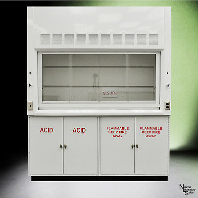 6' Chemical Laboratory Fume Hood w/ Flammable Acid Storage Cabinets  QUICK SHIP